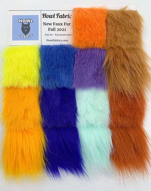 New Faux Fur Swatch Pack Fall 2021