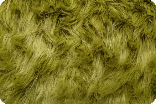 Moss Green Luxury Shag Faux Fur