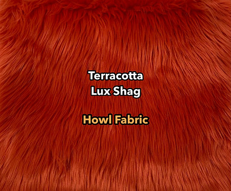 Terracotta Luxury Shag Faux Fur SWATCH