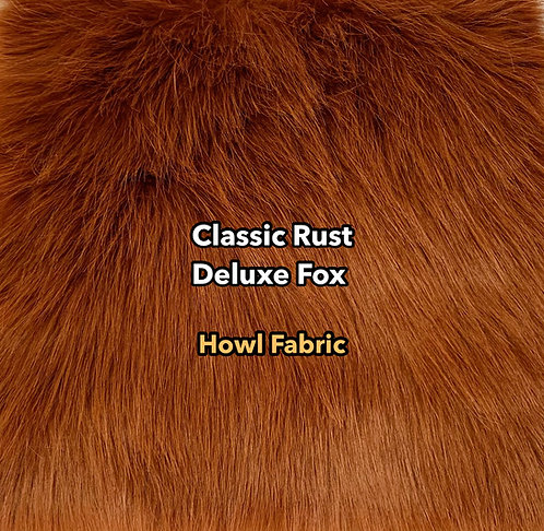 Classic Rust Deluxe Fox Faux Fur