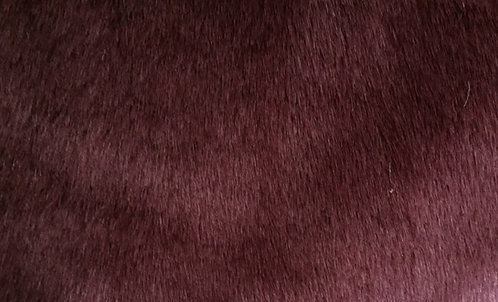 Burgundy Red Bunny SWATCH