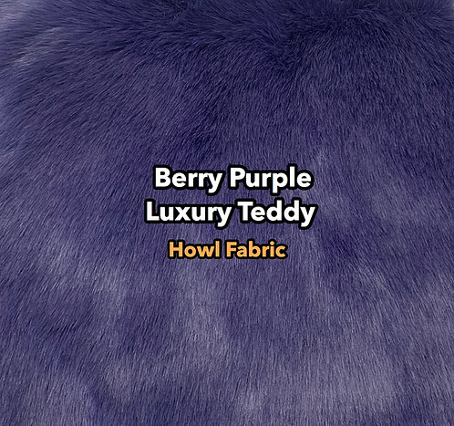 Berry Purple Luxury Teddy Faux Fur