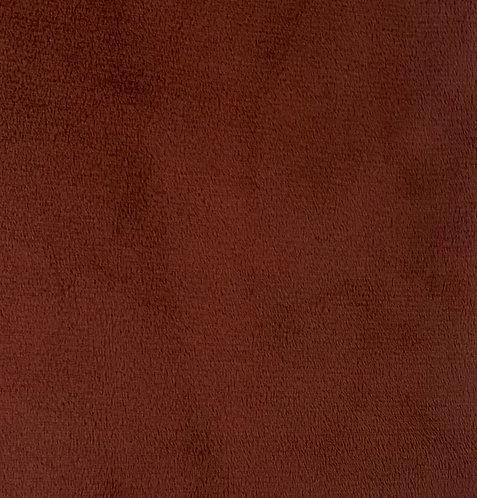 Dark Brick (HF) Minky Cuddle Solid Fabric