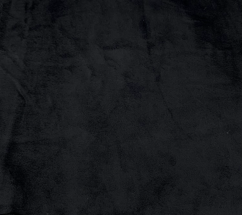 Black Minky Cuddle Solid Fabric