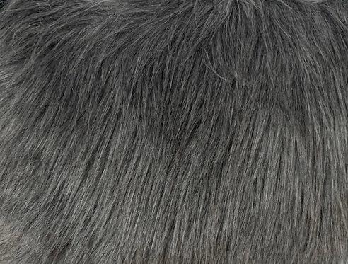 Grey Luxury Shag Faux Fur