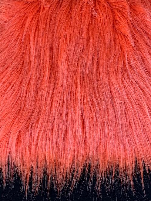 "Tangerine Orange UV Reactive Short Fox 2"" SWATCH"