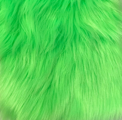 UV Neon Green Luxury Shag SWATCH