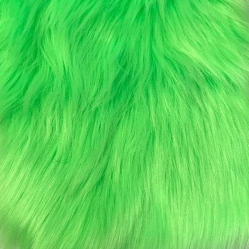UV Neon Green Luxury Shag Faux Fur
