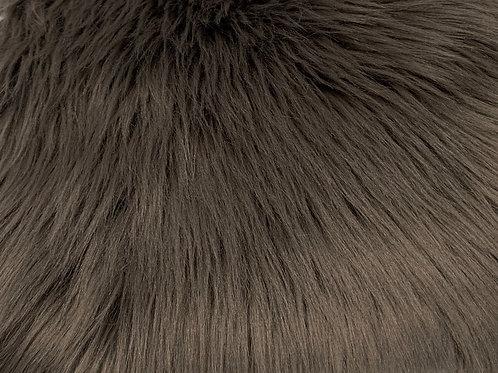 Pewter Luxury Shag Faux Fur