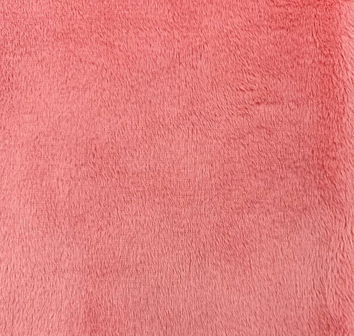 Coral Minky Cuddle Solid Fabric