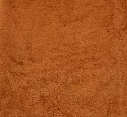 Rust Minky Cuddle Solid Fabric