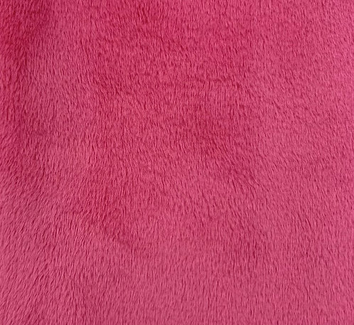 Hot Pink (HF) Minky Cuddle Solid Fabric