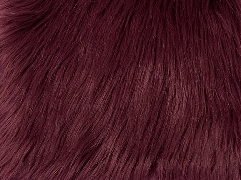 Wine Red Luxury Shag Faux Fur