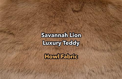 Savannah Lion Luxury Teddy Faux Fur SWATCH