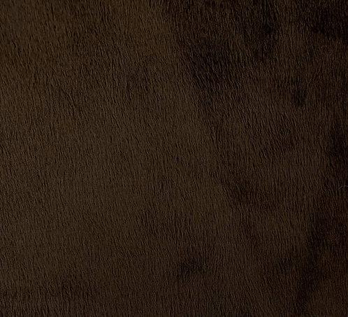 Espresso Minky Cuddle Solid Fabric