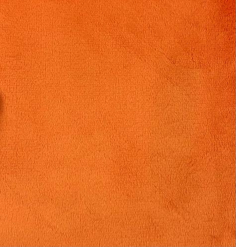Orange Minky Cuddle Solid Fabric