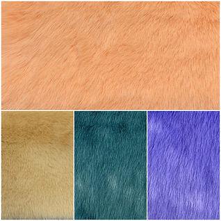 Medium Pile Faux Fake Fur Fabric