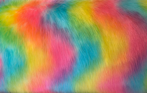 Rainbow Wolf Faux Fur SWATCH
