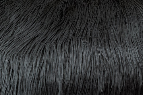 Charcoal Grey Luxury Shag Faux Fur
