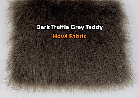 Dark Truffle Grey Faux Fur Fabric