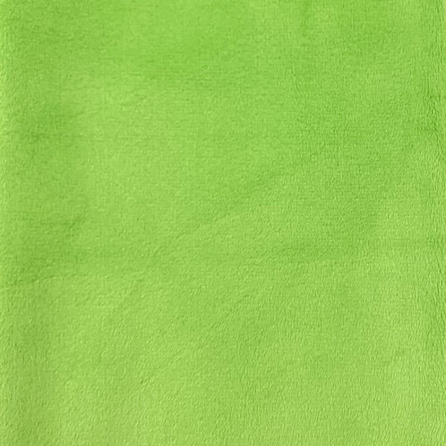 Dark Lime Minky Cuddle Solid Fabric