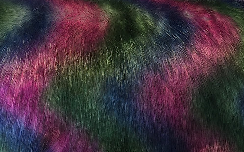 Galaxy Wolf Faux Fur