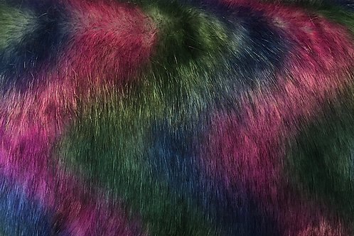 Galaxy Wolf Faux Fur