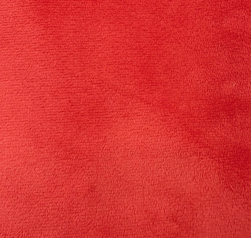 UV Fire Red Minky Cuddle Solid Fabric