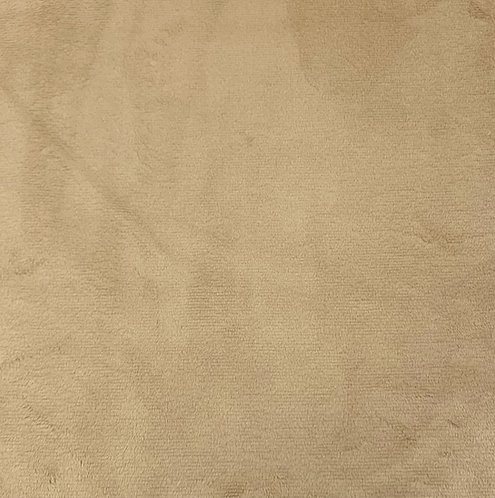 Camel Minky Cuddle Solid Fabric