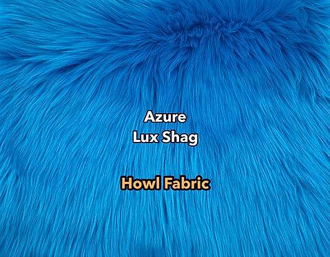Azure Blue Luxury Shag Faux Fur