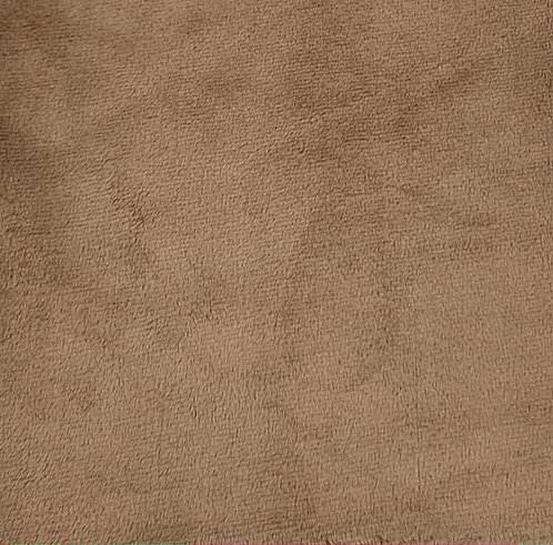 Taupe Minky Cuddle Solid Fabric