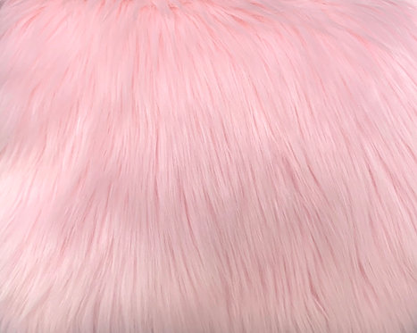 Baby Pink Luxury Shag Faux Fur