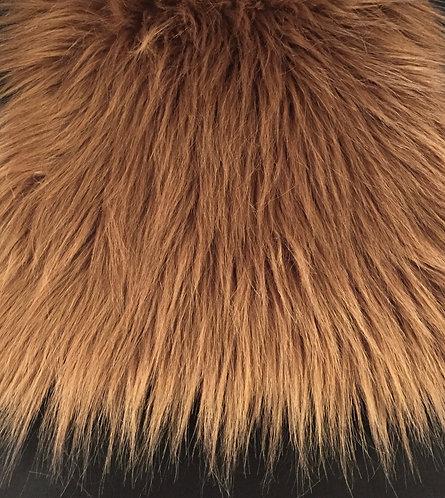Rust Faux Fur Fabric Long Pile Fox