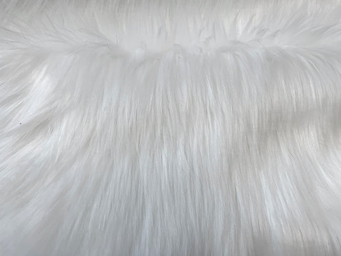 Snow White Luxury Shag Faux Fur
