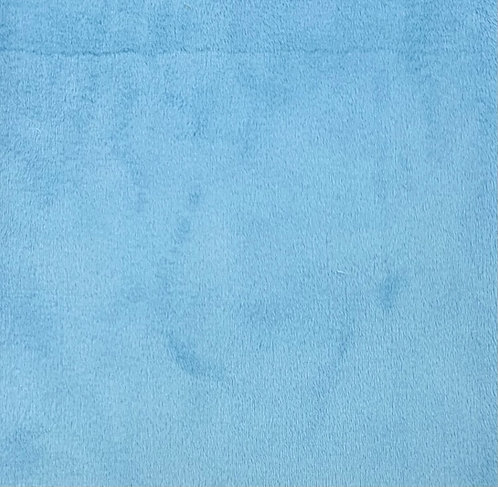 Turquoise Minky Cuddle Solid Fabric