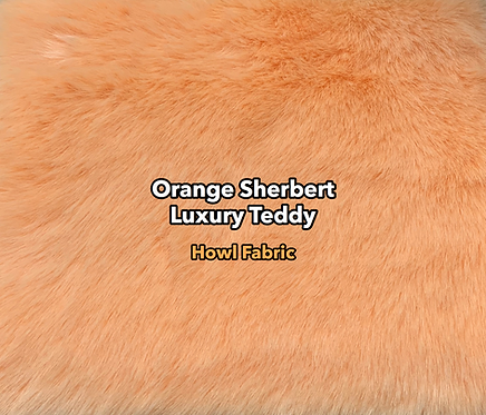 Orange Sherbert Luxury Teddy Faux Fur