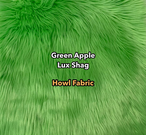 Green Apple Luxury Shag Faux Fur SWATCH