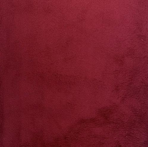 Crimson Minky Cuddle Solid Fabric