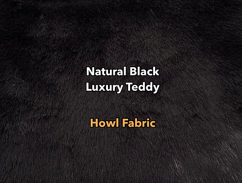 Natural Black Luxury Teddy Faux Fur