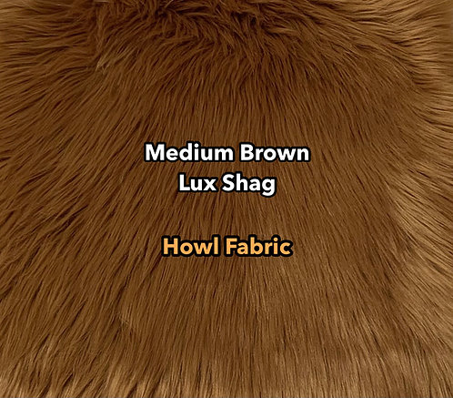Medium Brown Luxury Shag Faux Fur