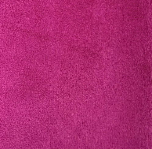 UV Cerise Minky Cuddle Solid Fabric