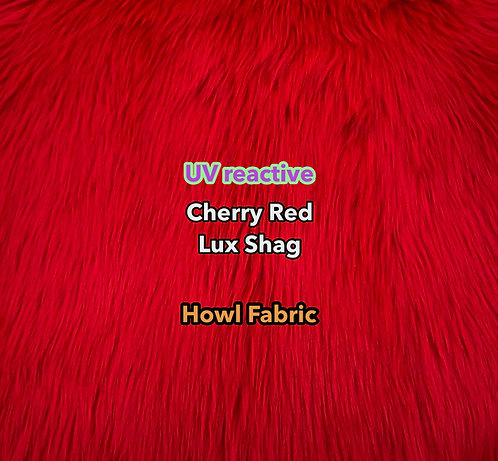 UV Cherry Red Luxury Shag Faux Fur