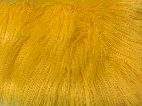 Yellow Luxury Shag Faux Fur