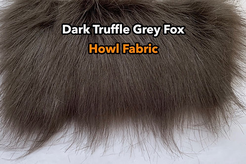 Long Pile Fox Dark Grey Faux Fur Fabric