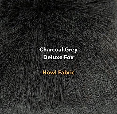 Charcoal Grey Deluxe Fox Faux Fur