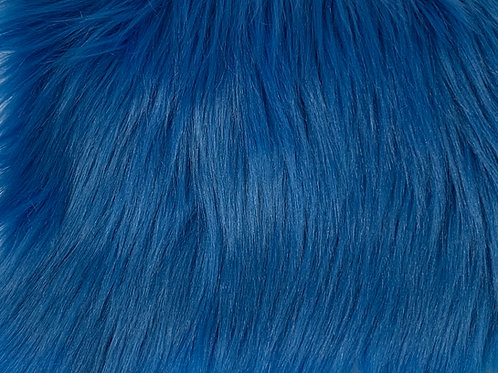 Cobalt Luxury Shag Faux Fur