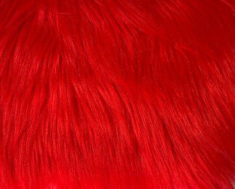 Fire Red Luxury Shag SWATCH