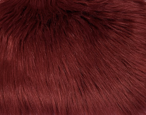 Brick Red Luxury Shag Faux Fur