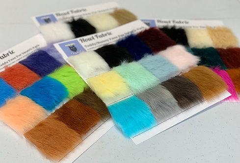 Teddy & Bunny Medium Pile Faux Fur Swatch Pack
