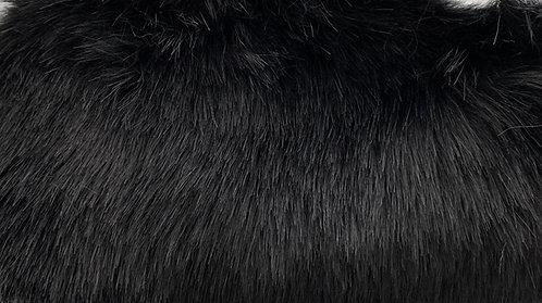 Black Luxury Mink Faux Fur